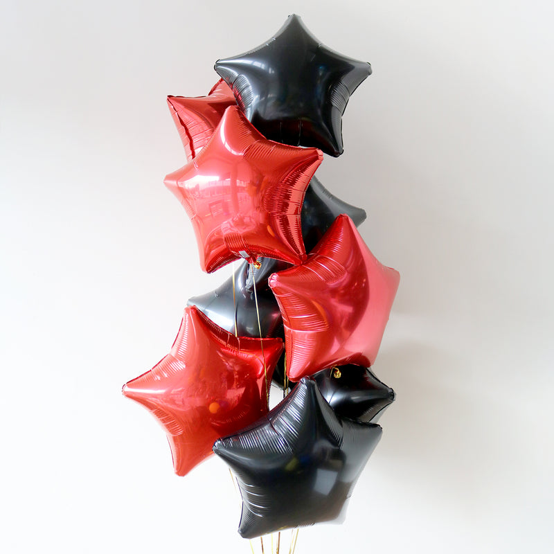 Black & Red Star Foil Bouquet