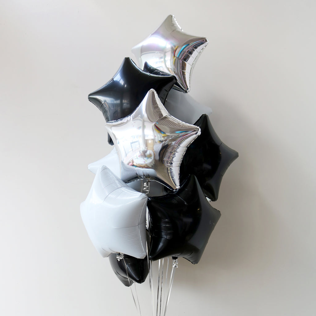 Monochrome Star Foil Bouquet