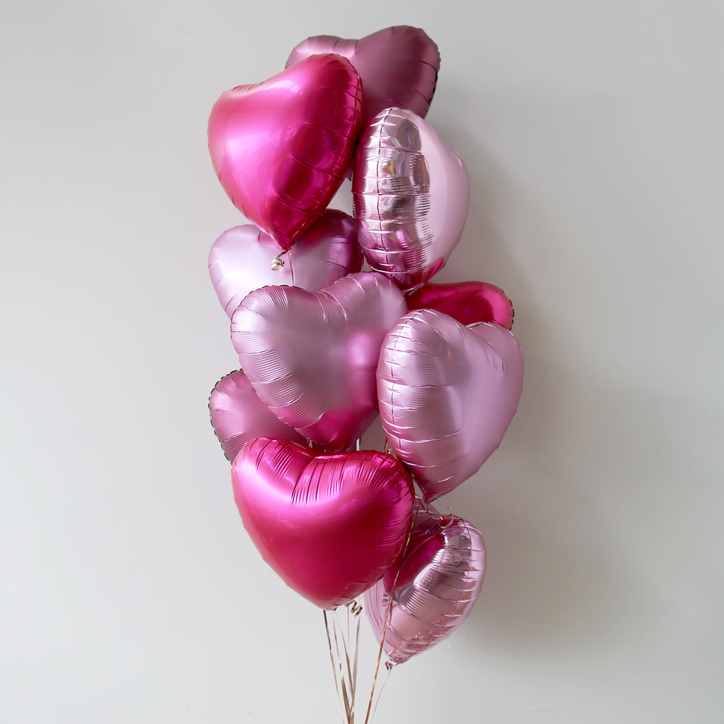 Pretty in Pink Heart Foil Bouquet