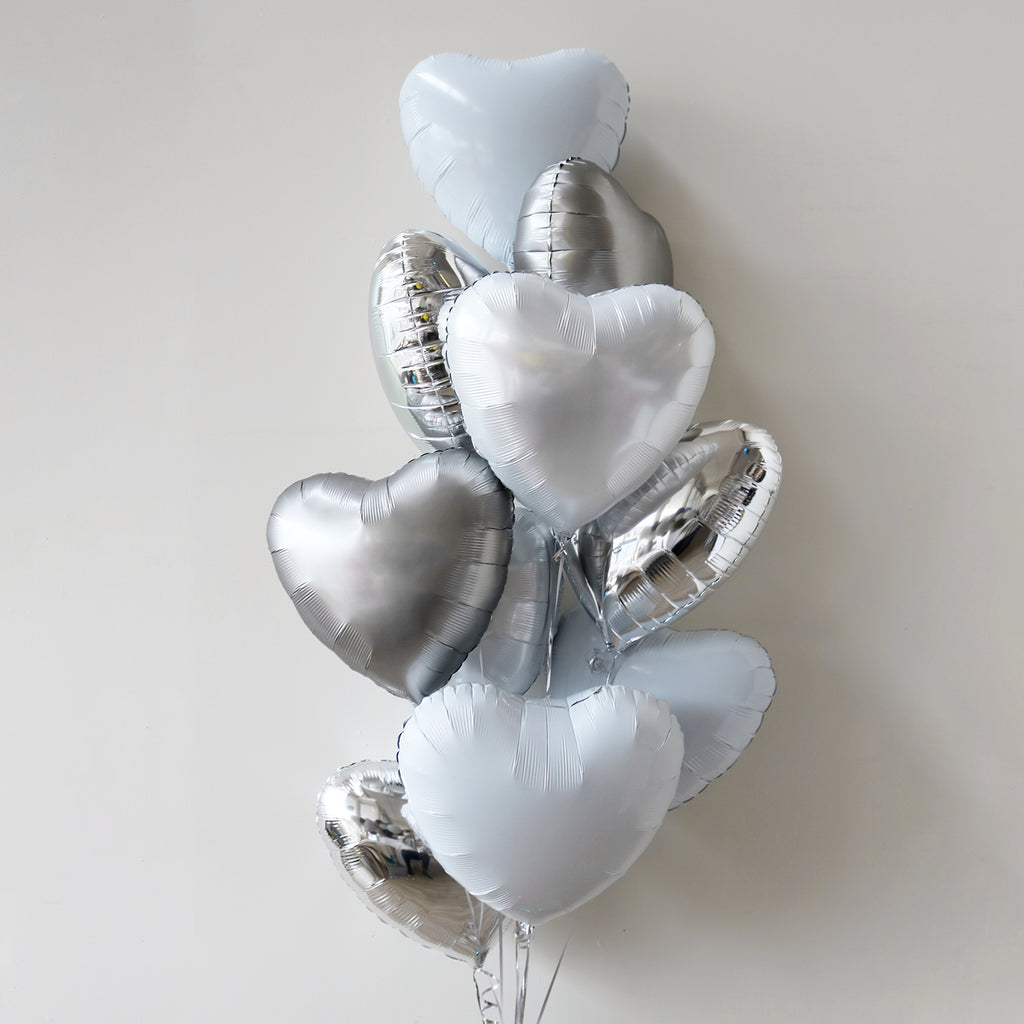 Sterling Heart Foil Bouquet