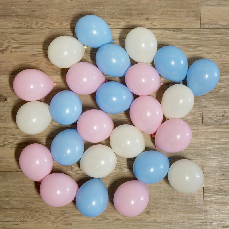 Pack of 25 Mini Balloons - Gender Reveal