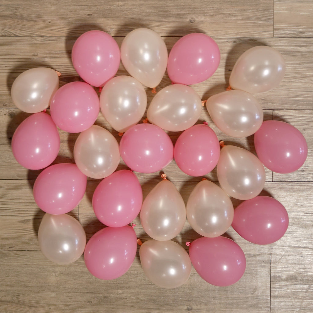 Pack of 25 Mini Balloons - Blushing Peach