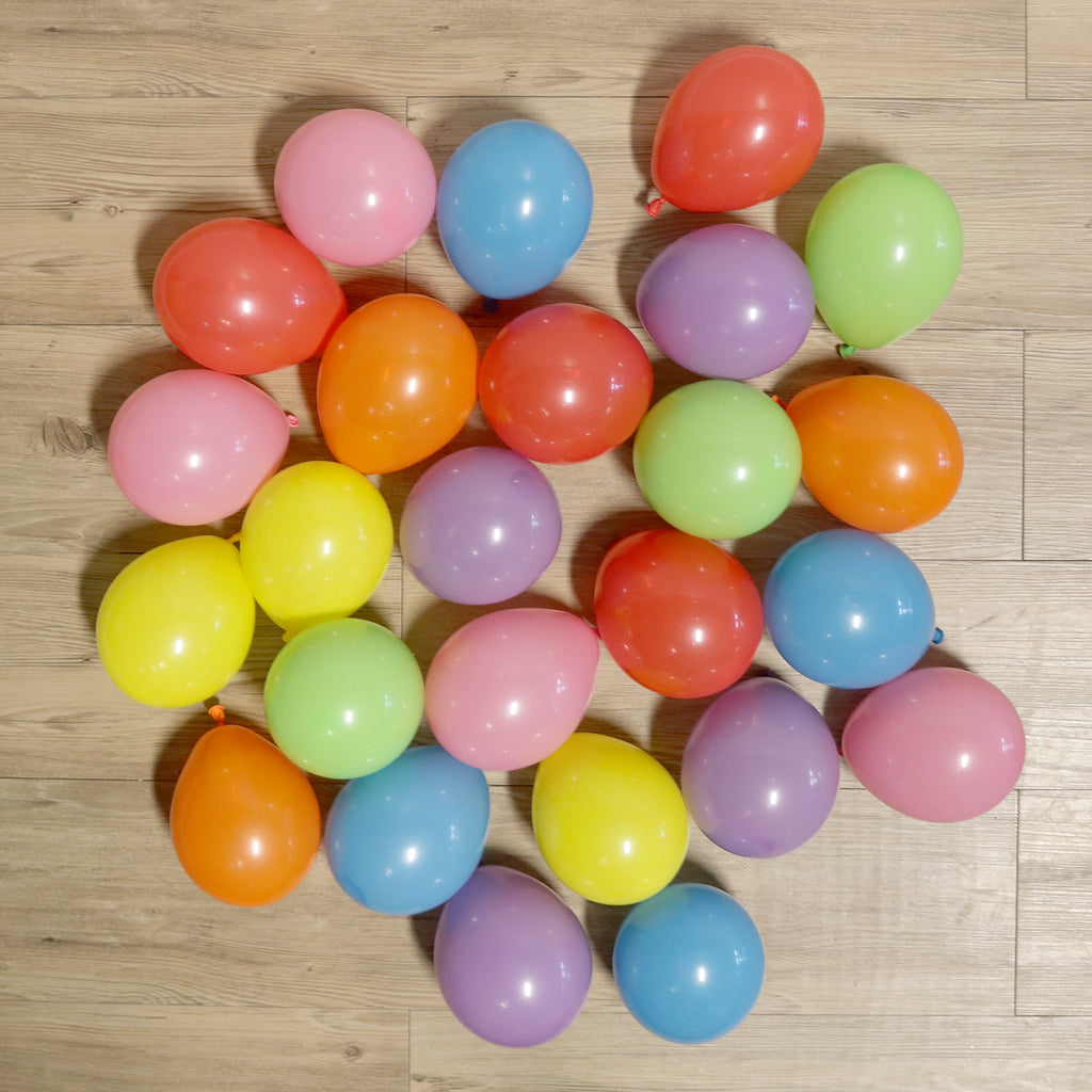 Pack of 25 Mini Balloons - Rainbow