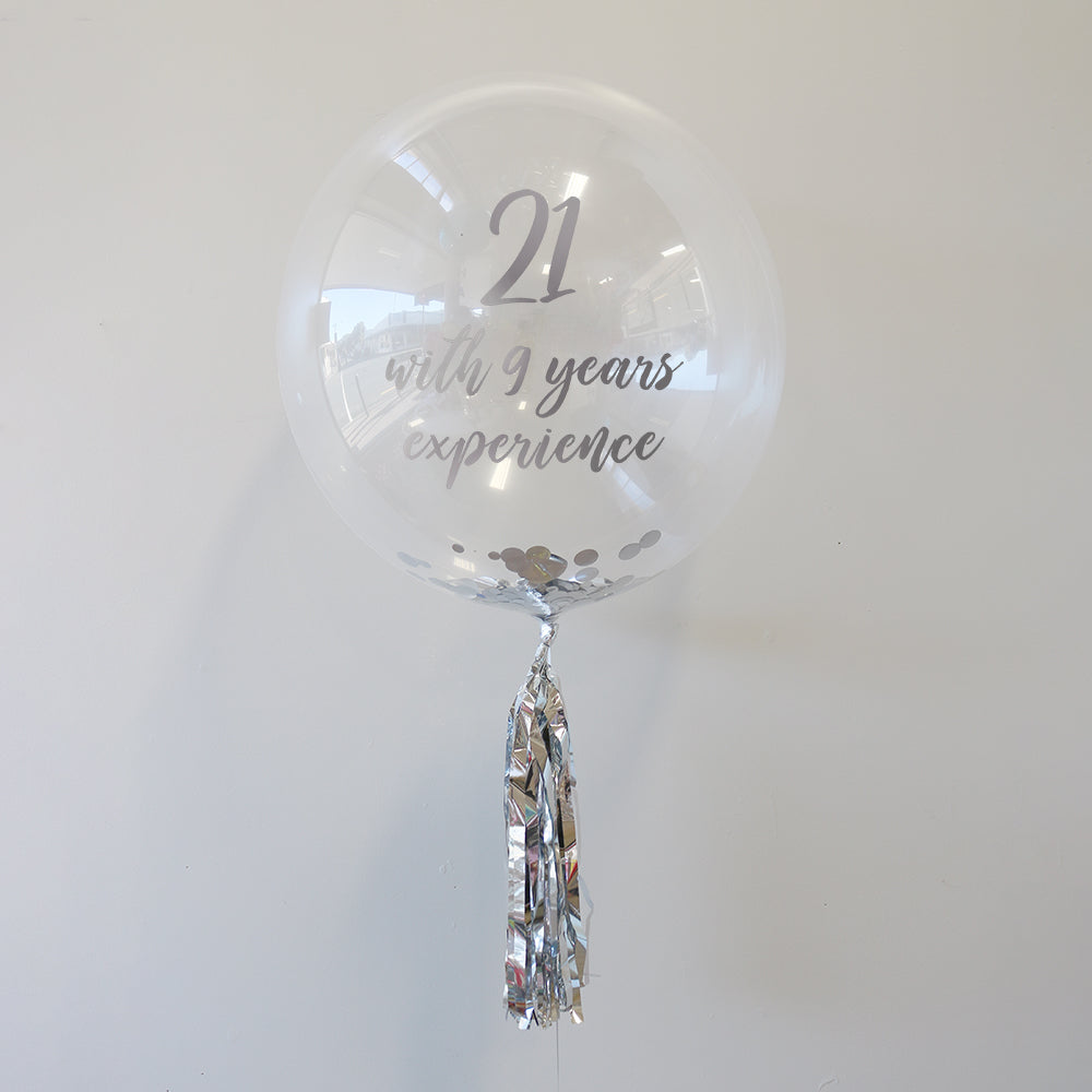 Personalised 30th Birthday Bubble Balloon
