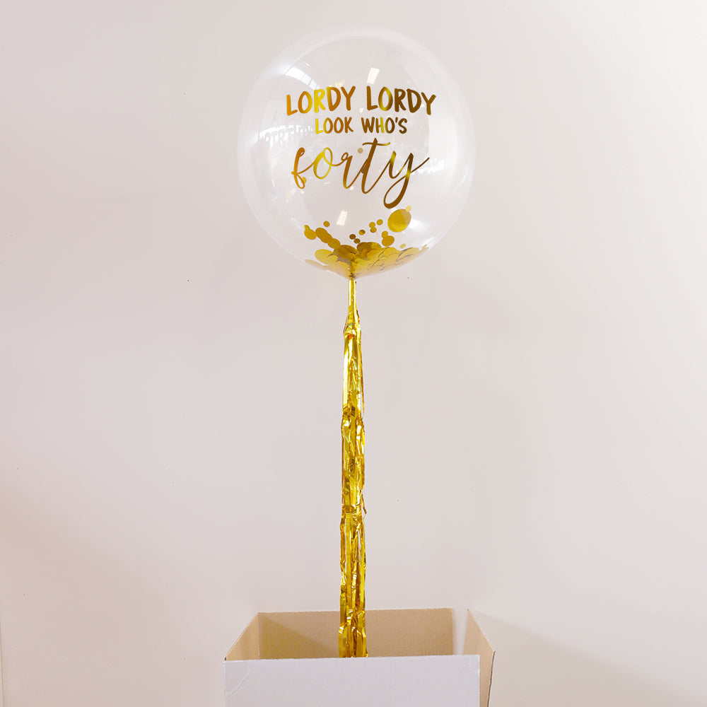 Personalised 40th Birthday Balloon | 40th Birthday Gifts