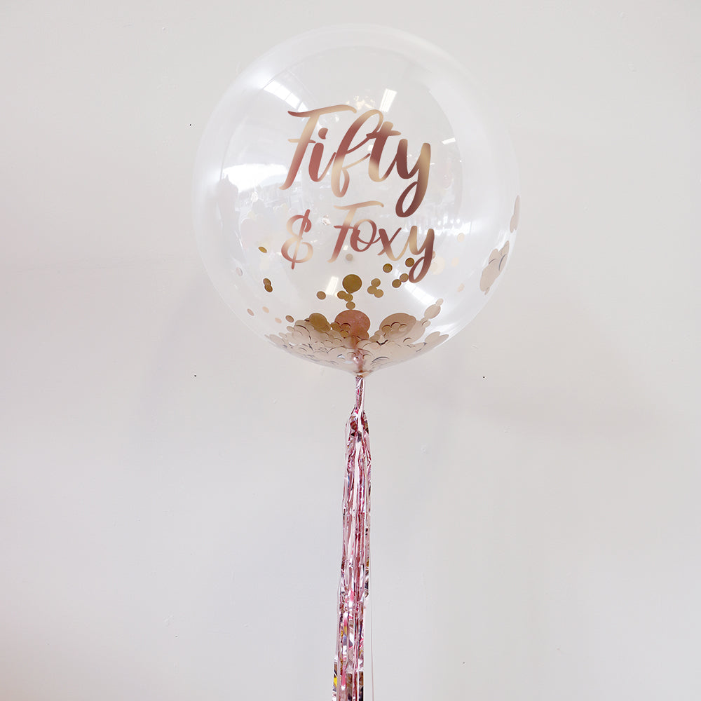 Personalised 50th Birthday Bubble Balloon