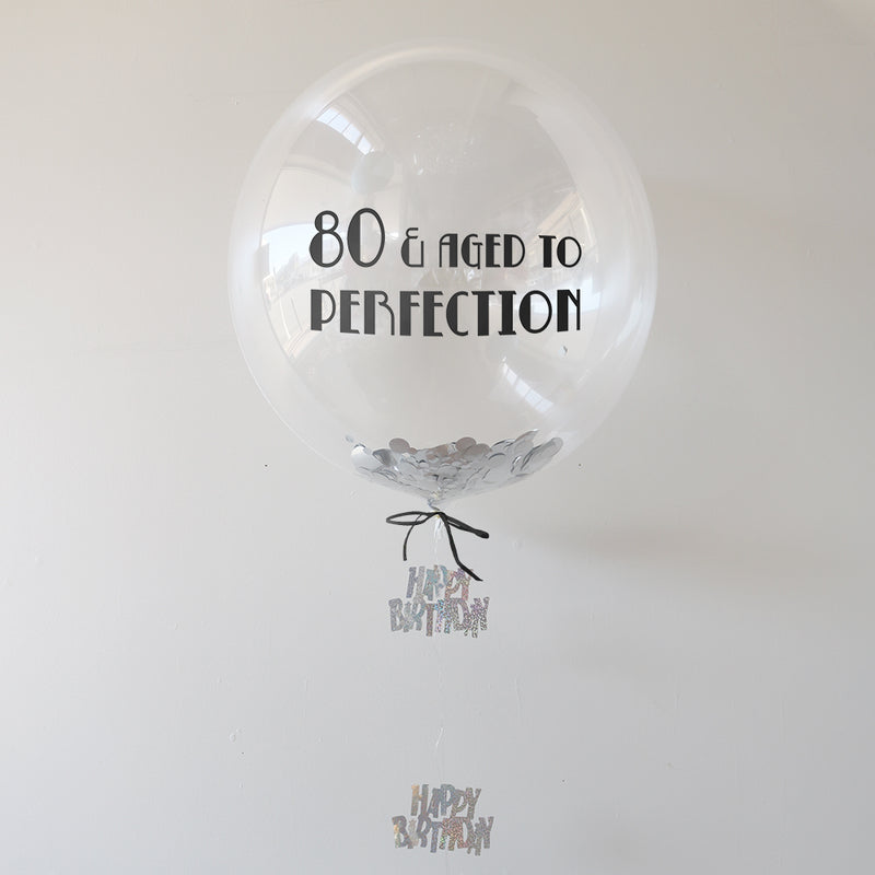 Personalised 80th Birthday Balloon | 80th Birthday Gifts