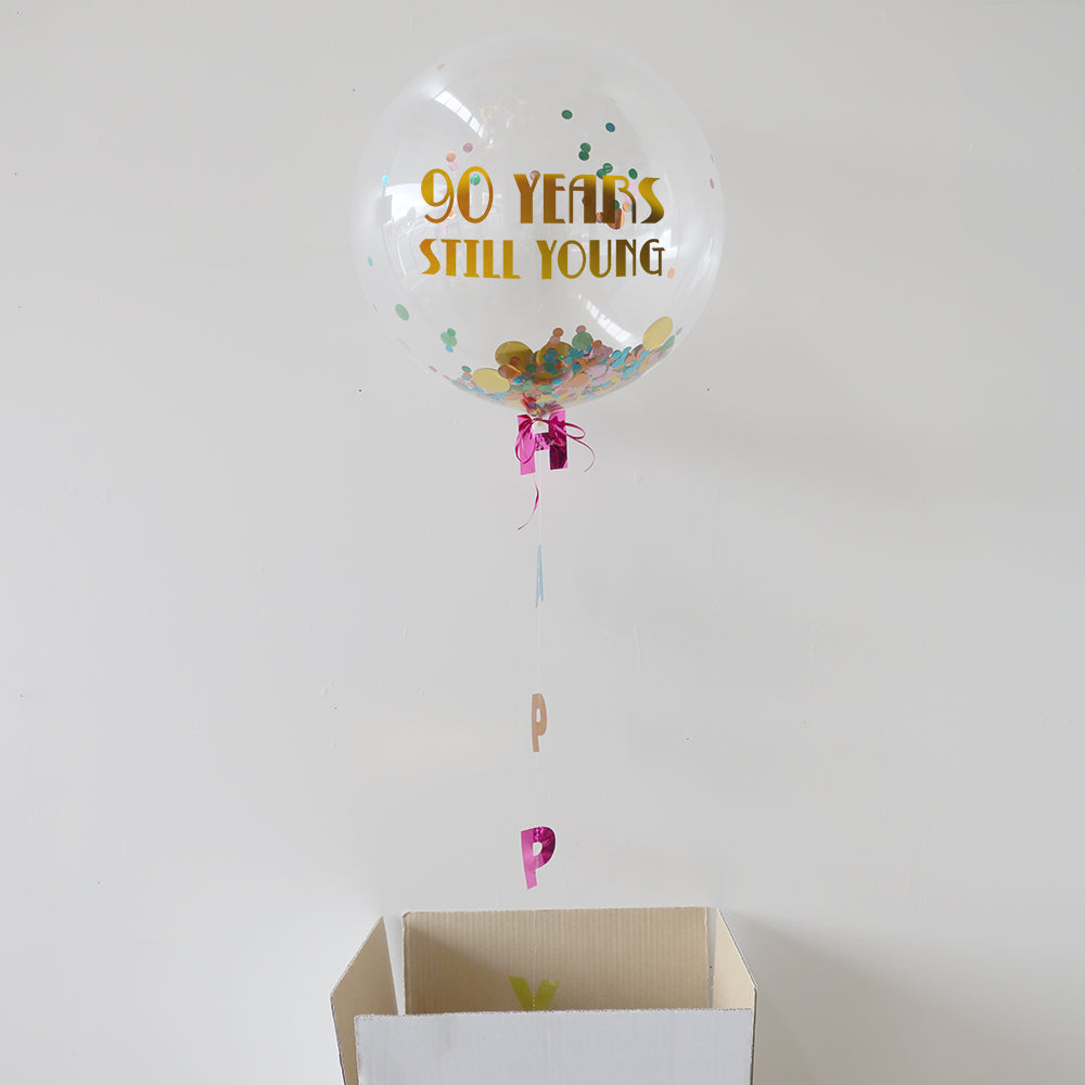 Personalised 90th Birthday Bubble Balloon