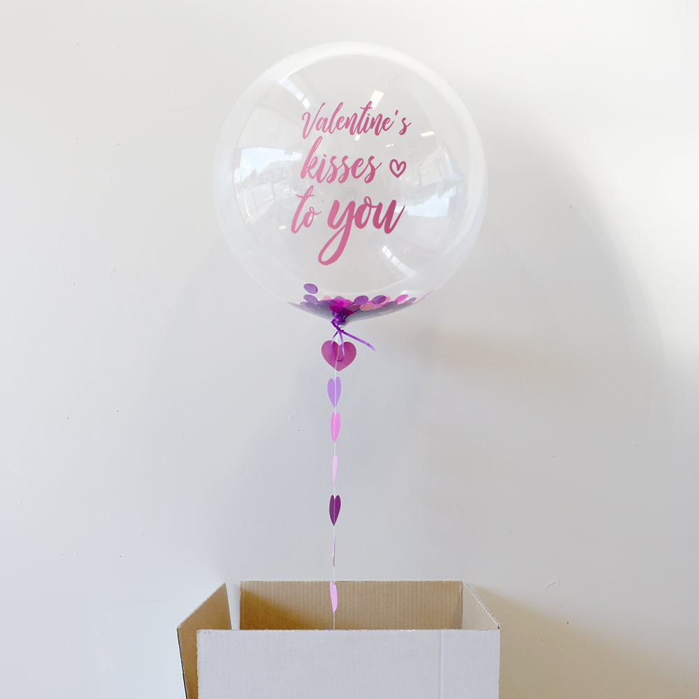 Personalised Valentines Kisses To You Bubble Balloon