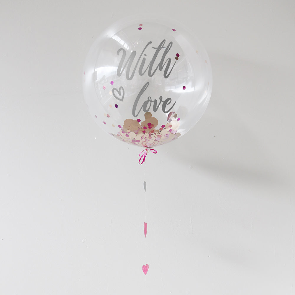 Personalised With Love Balloon | Anniversary Gifts | Valentines Gifts