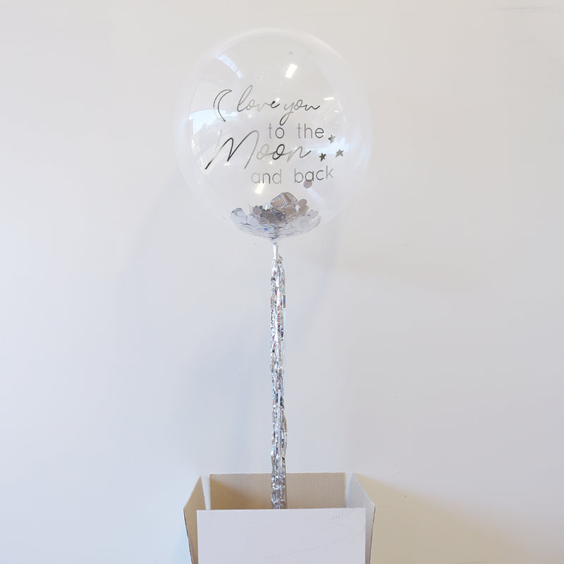 Personalised Love You to the Moon and Back Bubble Balloon