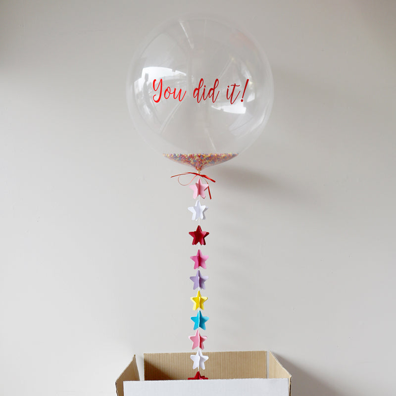 Personalised You Did It! Bubble Balloon