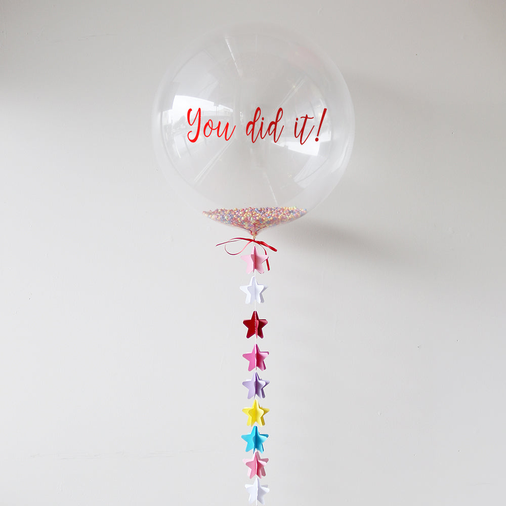 You Did it Balloon | Congratulations Balloon | Personalised Balloons Wellington