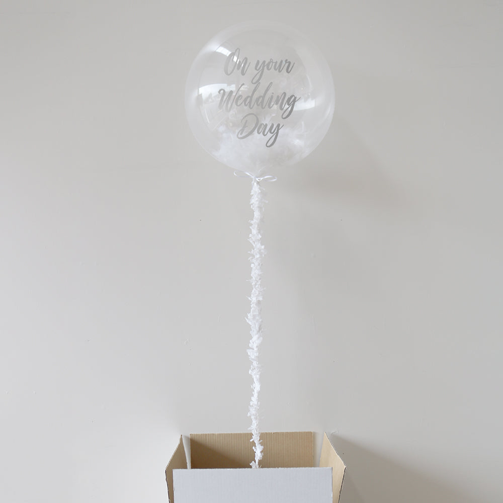 Personalised On Your Wedding Day Bubble Balloon