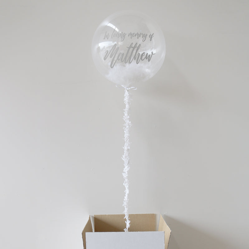 In Loving Memory Personalised Bubble Balloon