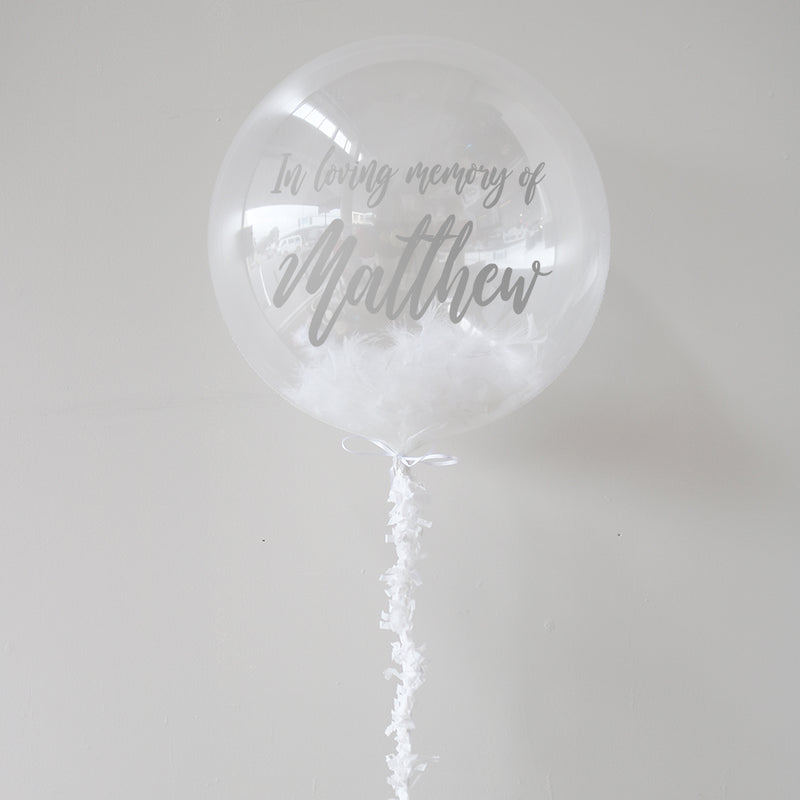Personalised Memorial Balloon | Memorial Decorations