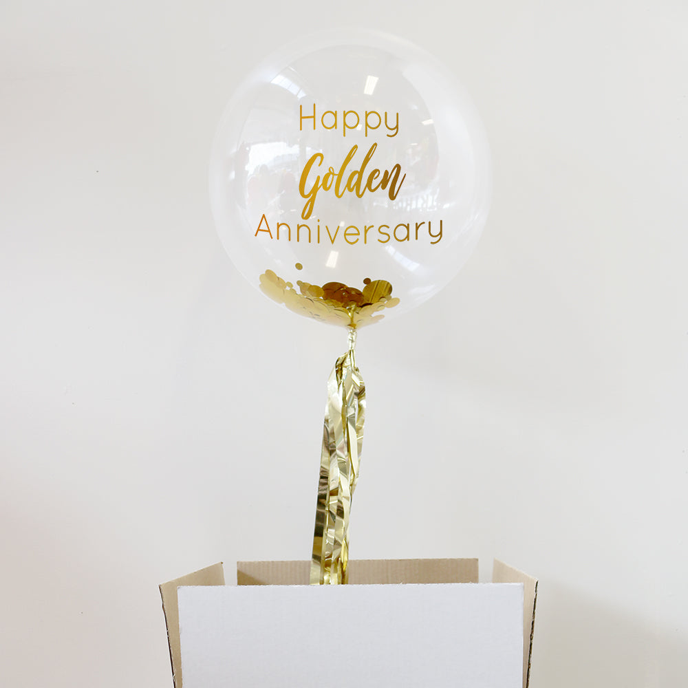 Personalised 50th Anniversary Bubble Balloon