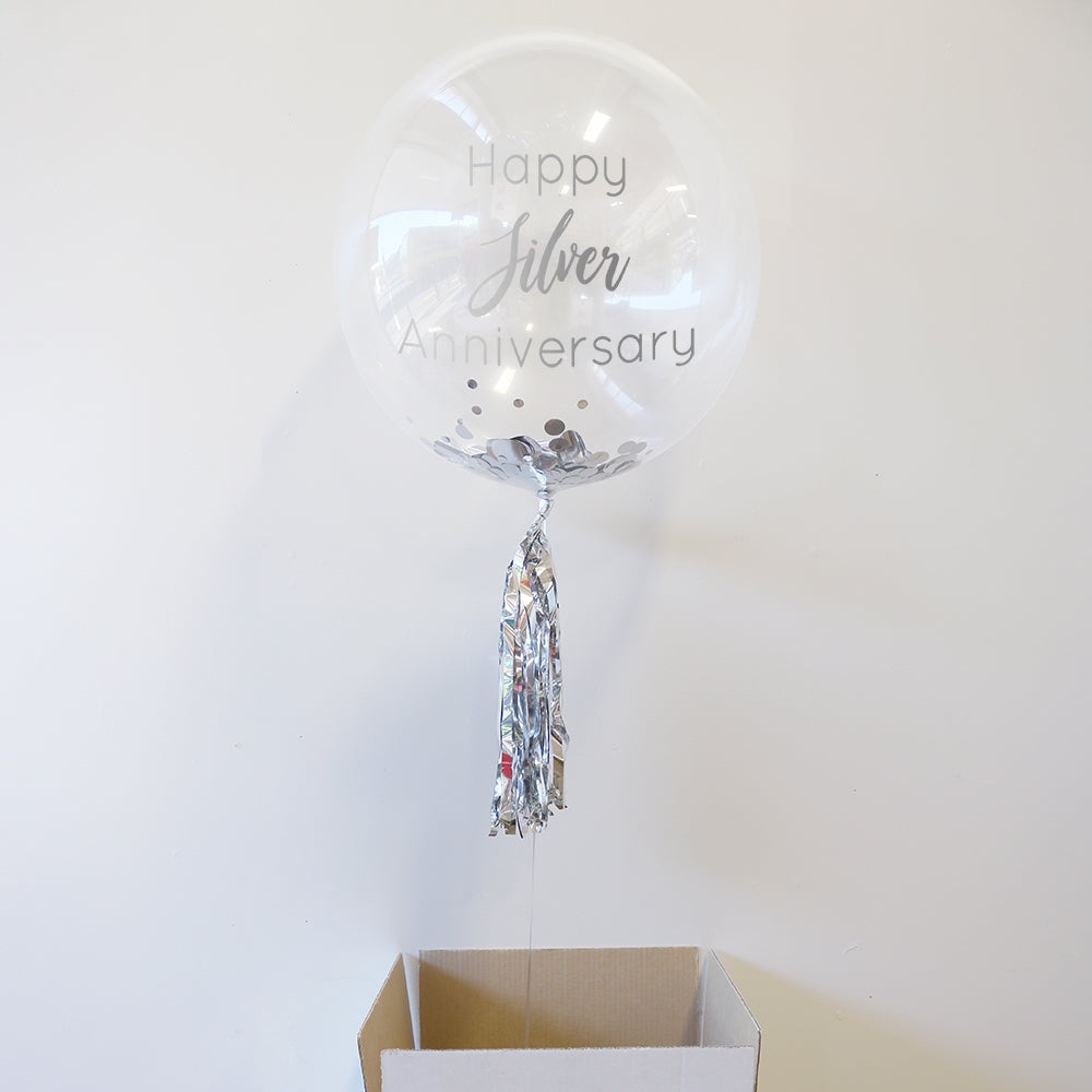 Personalised 25th Anniversary Bubble Balloon