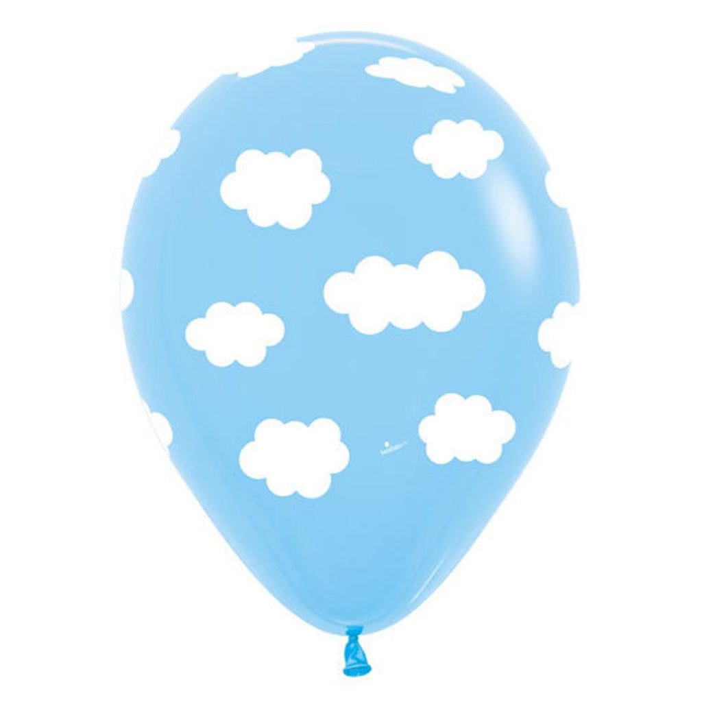 Pack of 12 Latex Balloons - Clouds