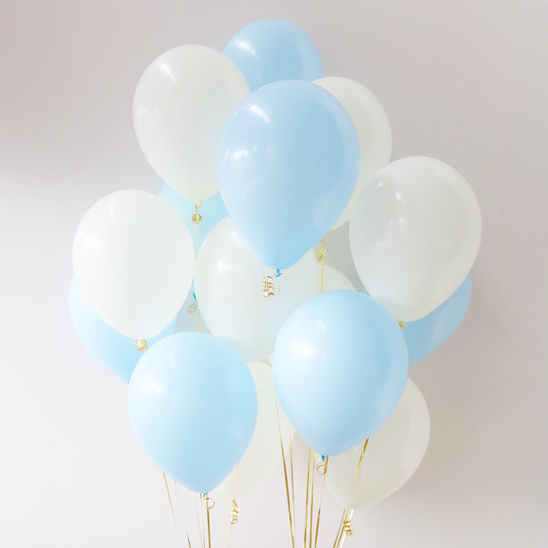 Pack of 15 Latex Balloons - Baby Blue