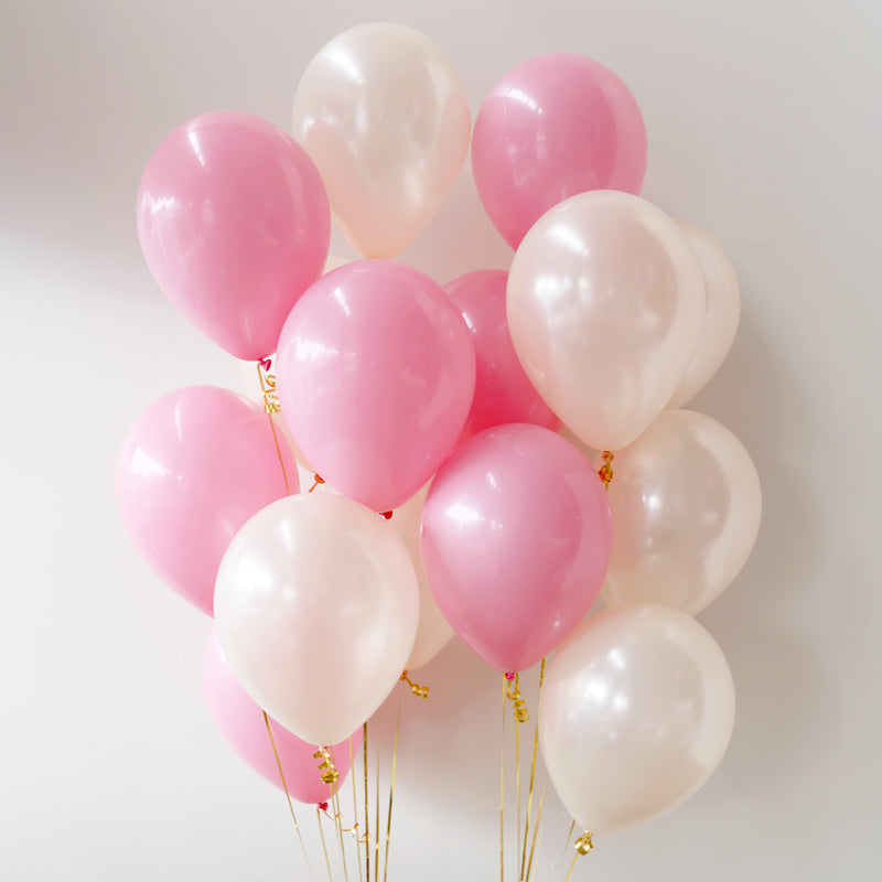 Pack of 15 Latex Balloons - Blushing Peach