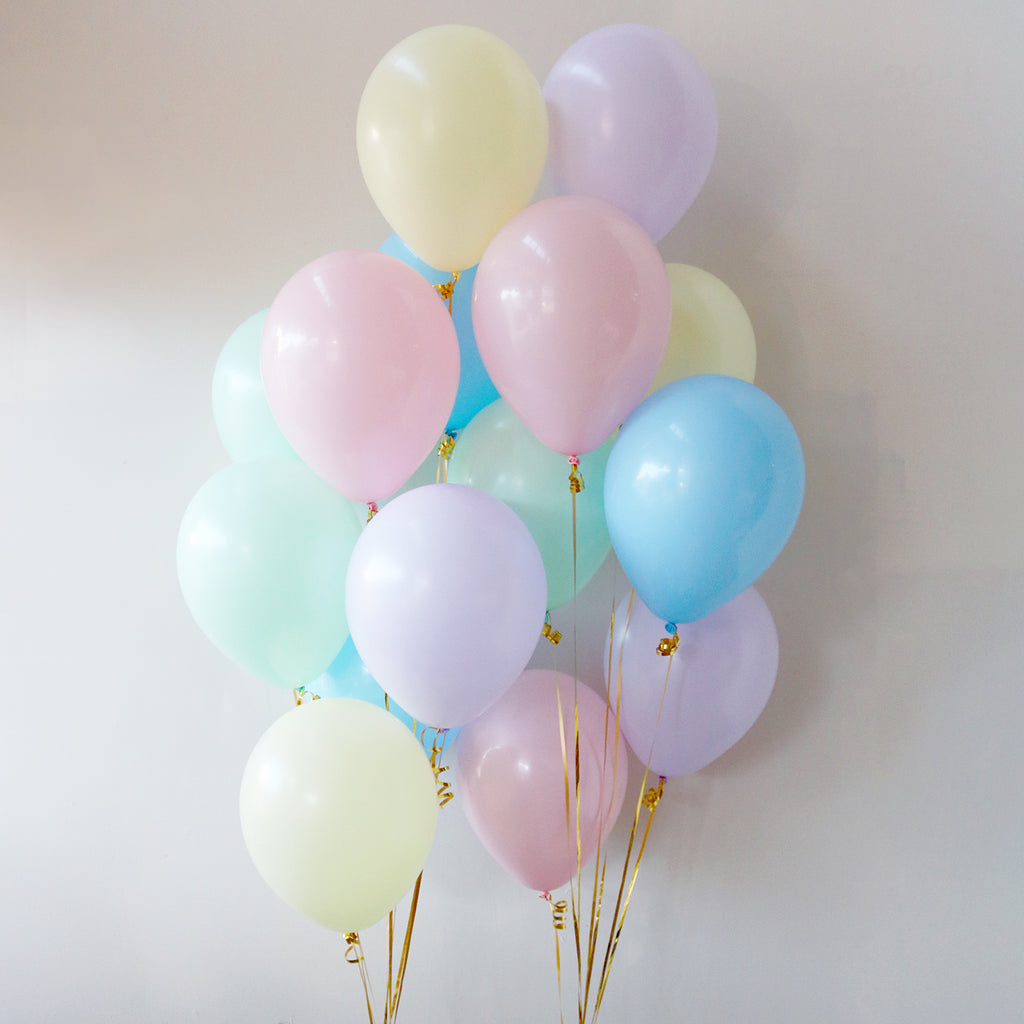 Pack of 15 Latex Balloons - Pastel