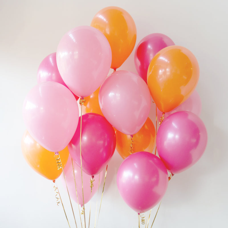 Pack of 15 Latex Balloons - Flamingo