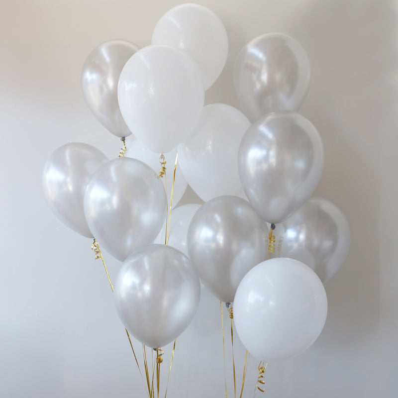 Pack of 15 Latex Balloons - Sterling