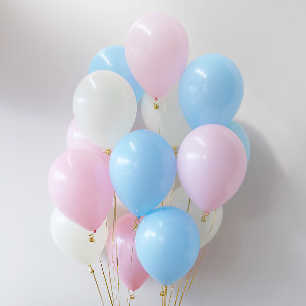 Pack of 15 Latex Balloons - Gender Reveal