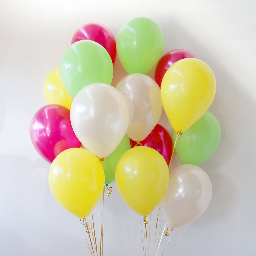 Pack of 15 Latex Balloons - Tropicana
