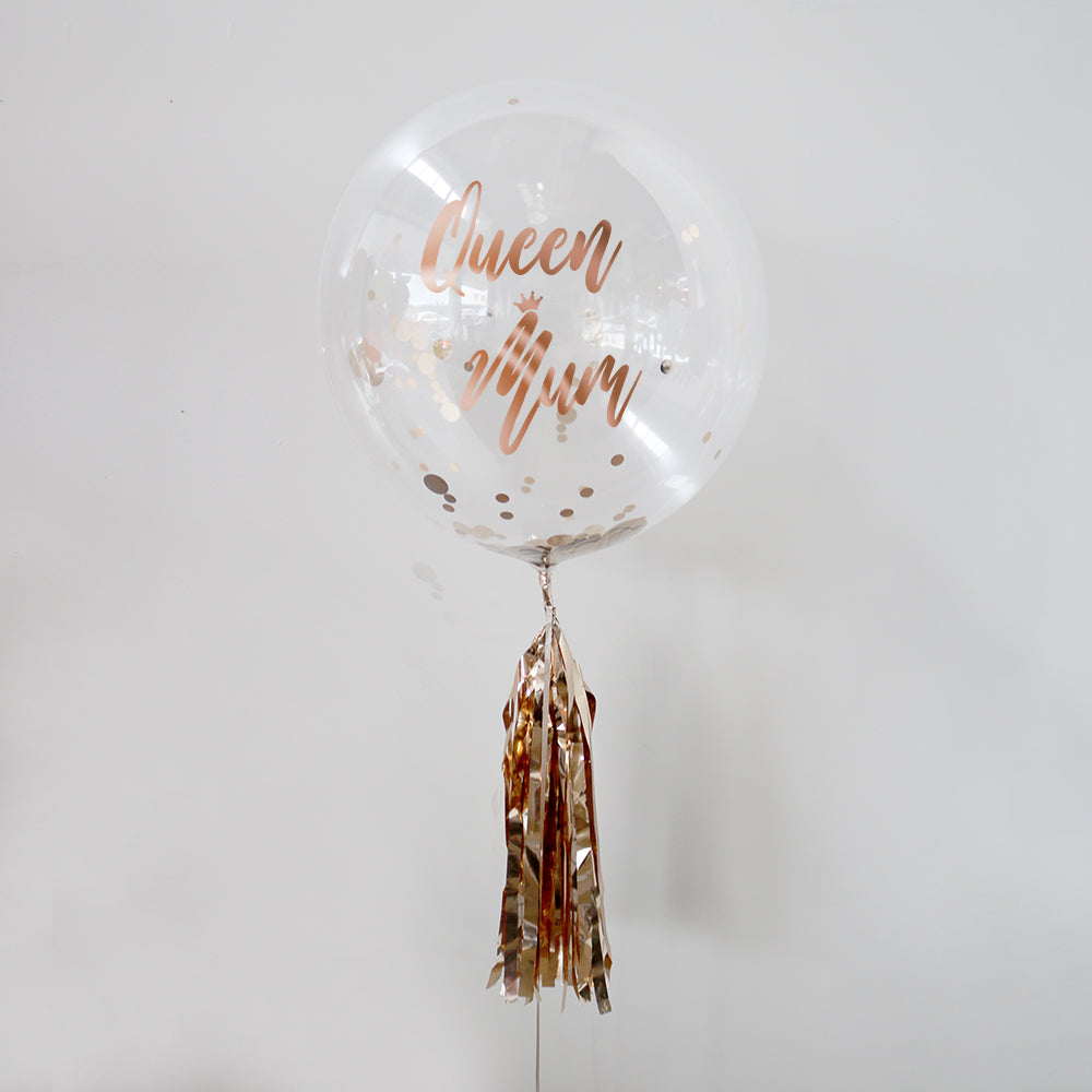Queen Mum Mother's Day Personalised Bubble Balloon