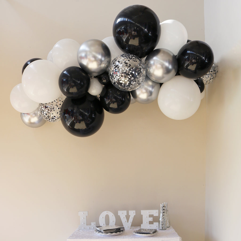 Monochrome Balloon Garland