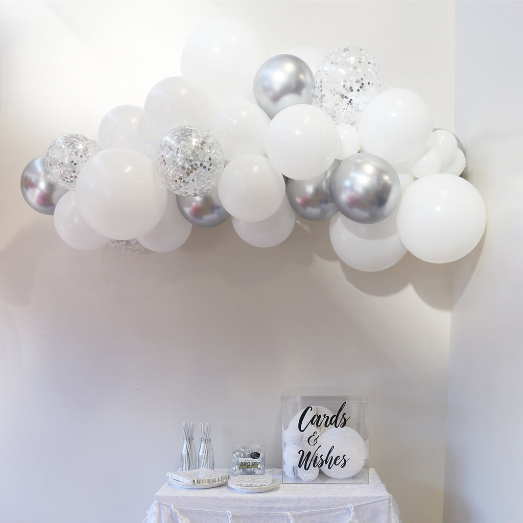 Balloon Garland - Sterling