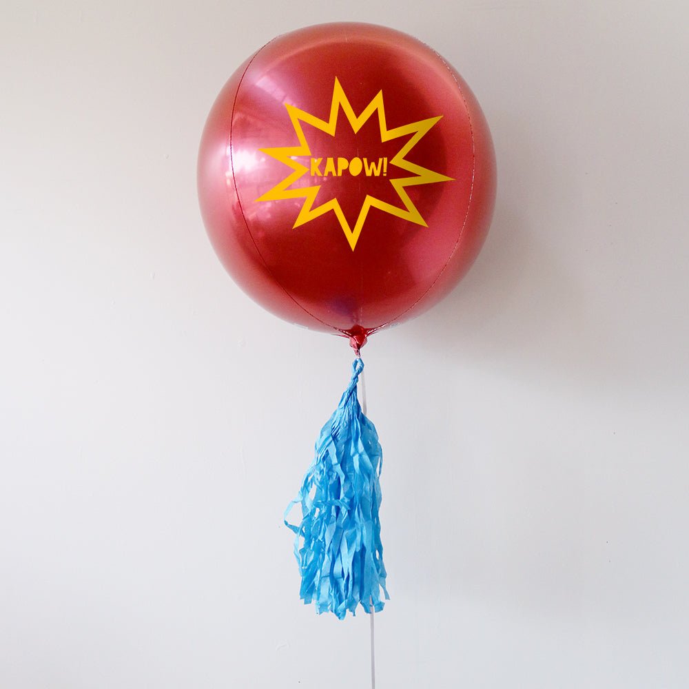 Kapow Personalised Orbz Balloon