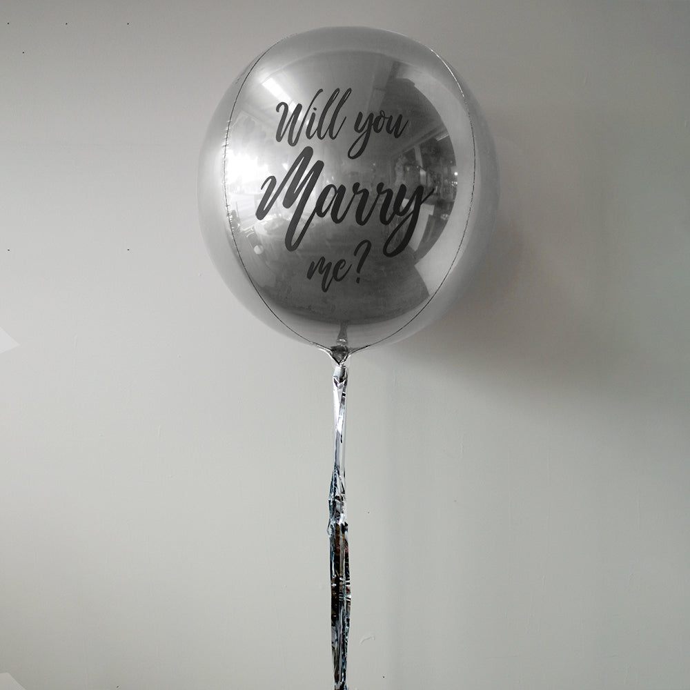 Will You Marry Me? Personalised Orbz Balloon