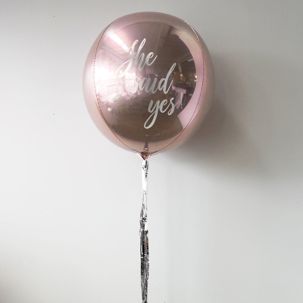 Bridal Shower Personalised Orbz Balloon