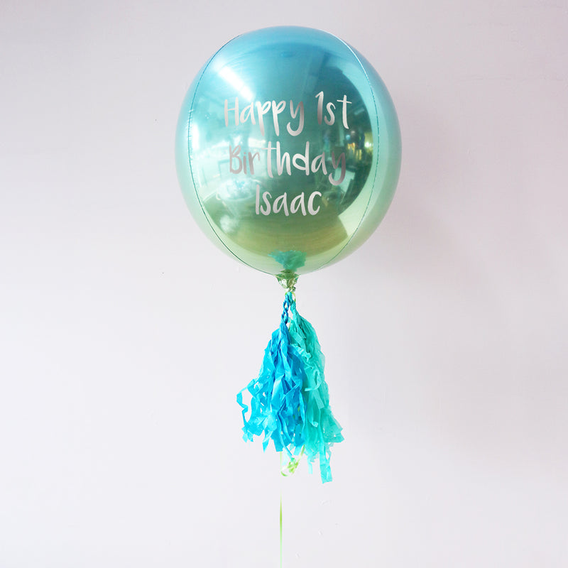 Happy 1st Birthday Personalised Orbz Balloon