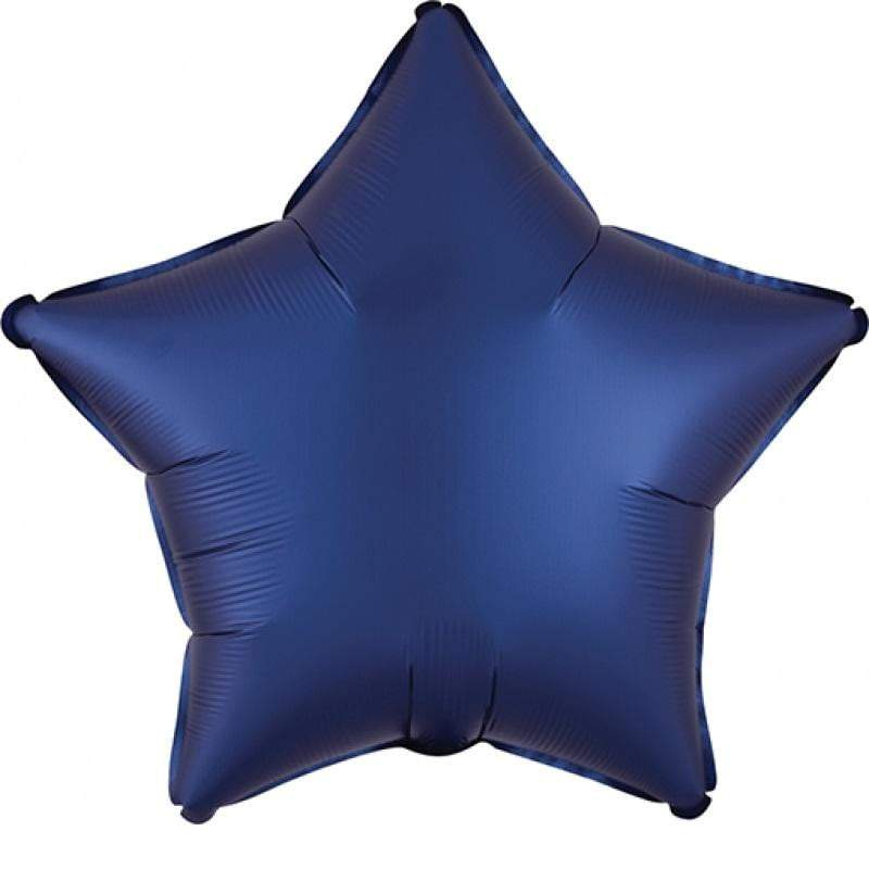 Satin Luxe Navy Star Foil Balloon
