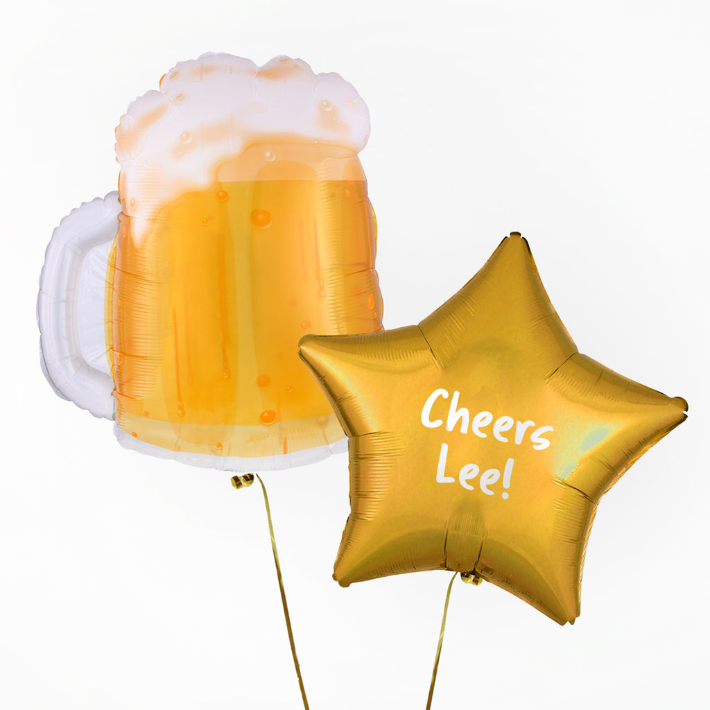 Beer Mug Personalised Foil Duo