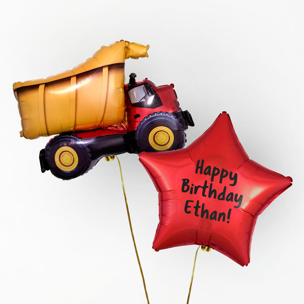 Dump Truck Personalised Foil Duo