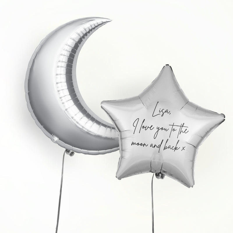 To the Moon and Back Personalised Foil Duo