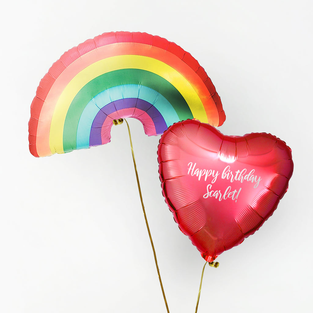 Rainbow Personalised Foil Duo