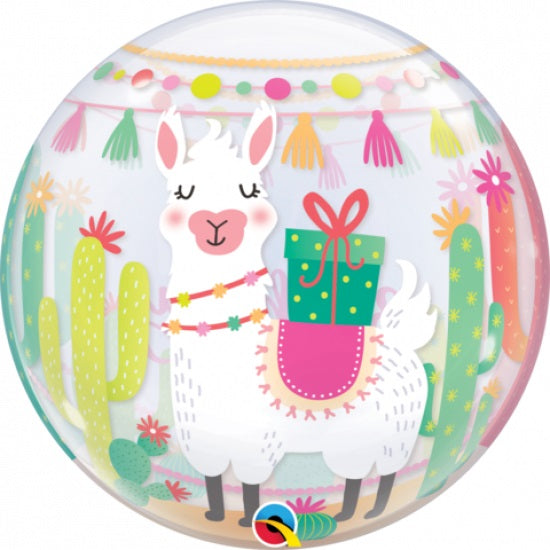 Llama Happy Birthday Bubble Balloon