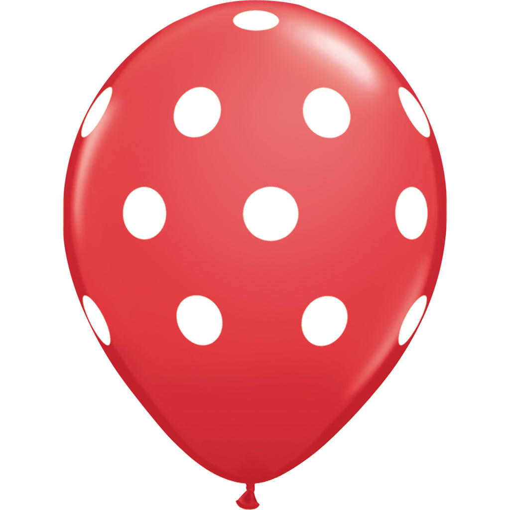 Red Polka Dot Balloon | Helium Balloons Wellington