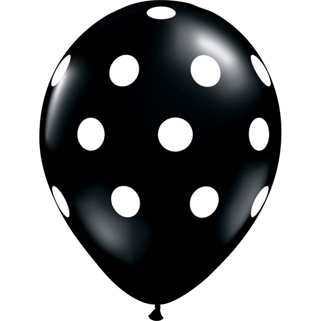 Black Polka Dot Balloon