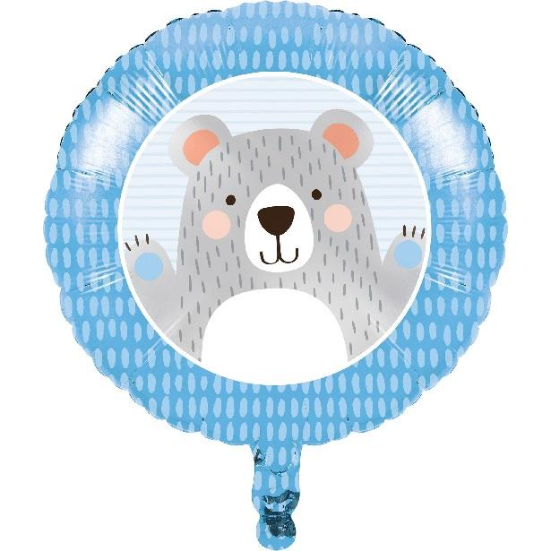 Birthday Bear Foil Balloon