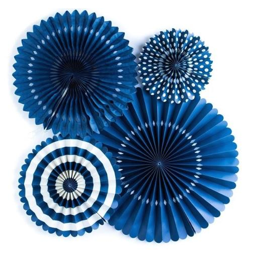 My Minds Eye Basics Party Fans - Navy
