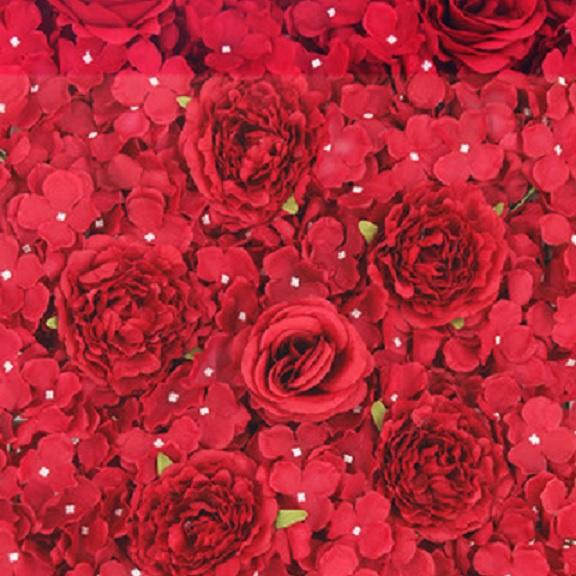 Romantic Red Flower Wall Hire