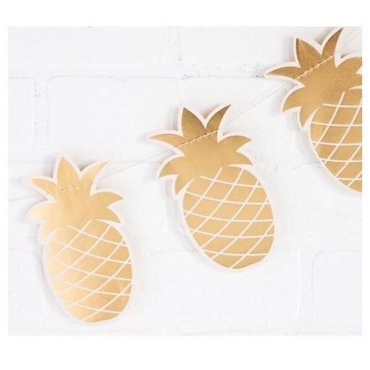 Mini Gold Pineapple Banner
