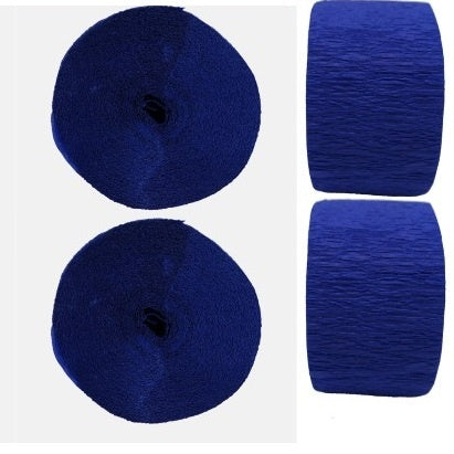 Crepe Streamers - Navy Blue